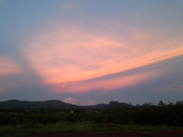 Red Sky over Stone Mountain, Loei Thailand